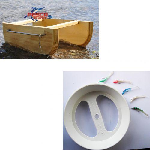 KP4449 - Kit Pesca Barchino Divergente + Trave Pronto Pesciolini Armati