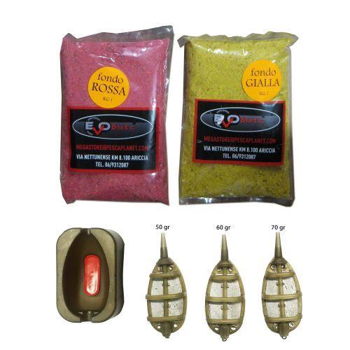 KP5075 - Kit 2 kg pastura evo + 3 pasturatori + mould pesca feeder