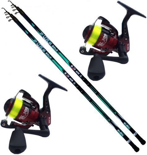 KP5103 - Evo 2 Canne pesca Bolo Pure 4 mt 2 Mulinello 3000 Filo