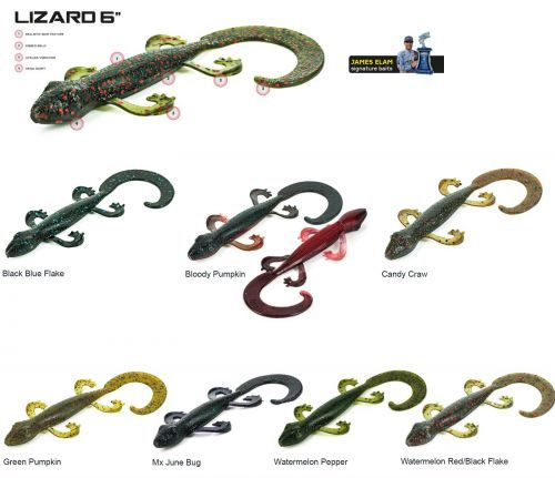 "LIZARD- - Molix Esca Artificiale Lizard 6\"" Special Bass"