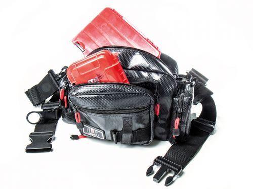 MWB-BK - Molix Waist Bag Black marsupio Spinning Trout