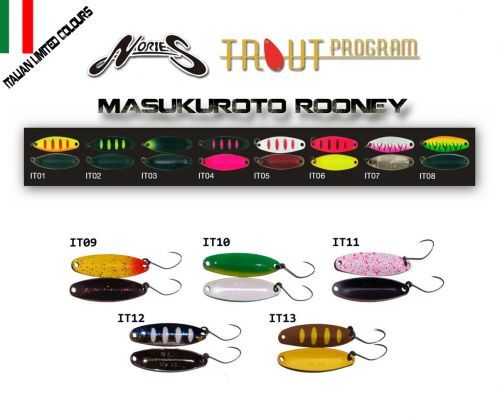 ROONEY15L - Nories Masukuroto Rooney Spoon 1,5 gr Limited Color Trout Area