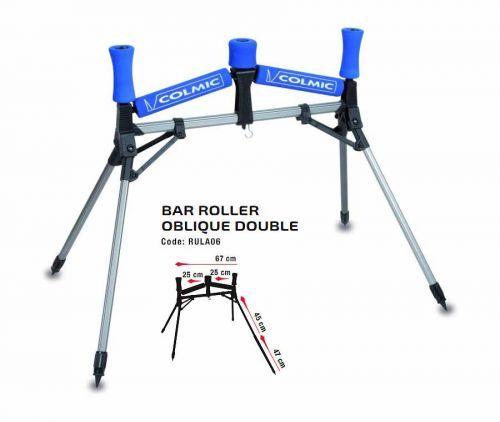 RULA06 - Rullo Reggicanne Colmic Bar Roller Oblique Double