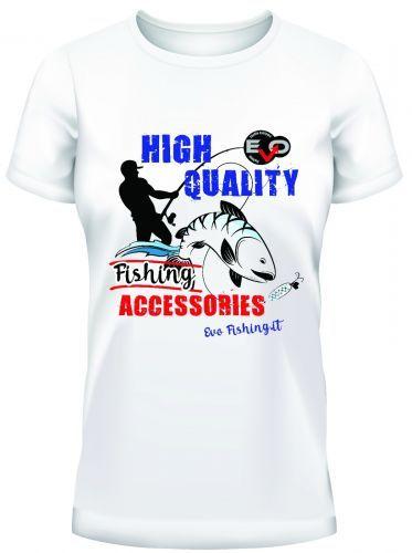 TS-EVO-BI - T-shirt Evo fishing White Royal