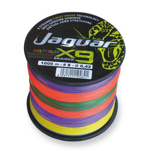 X9M- - Jaguar filo pesca Tracciato 9 capi Multicolor 1000mt