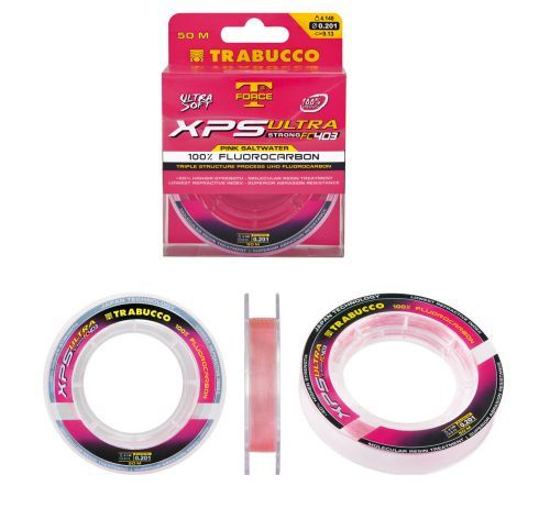 XPS-PINK-30 - Monofilo Fluorocarbon Trabucco XPS Pink Saltwater 30 mt