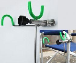 Porta canne da sedia panchetto universale in acciaio feeder - Porta canne da pesca fai da te ...