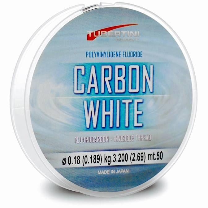 Monofilo Tubertini Carbon White Fluorcarbon Purissimo 100%